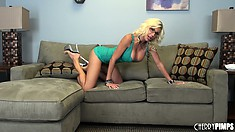 Puma Swede lets looses her perfectly round tattas and bares her nice ass