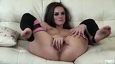 Well-knit kitty Tori Black will astonish anyone with her skills