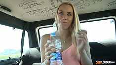 Newbie Diamante Sudafricano gets picked up in the parking lot and rides in the sex bus