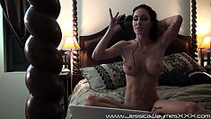 He pounds her tonsils with his tool and blows his load on her tits