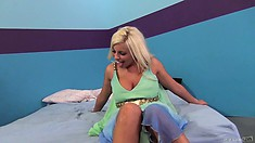 Britney Amber is always more than willing to throw her legs up