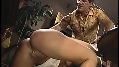 Avy Scott found a busty blond who loves sucking cock and fucking