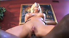 Slutty Staci Thorn goes for a big black and eats it before ass fucking
