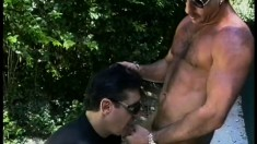 Bad boy gets caught by two horny cops and they make the charges stick