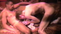 Bound male slut gets his asshole penetrated by some dark meat