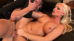 Extremely tasty blonde bitch Diana Doll blows fascinating member