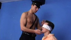 POW gets tortured and taken advantage of as the guard fucks and cums on him