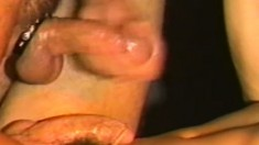 Handsome latino dude strokes his huge pole to a creamy explosion