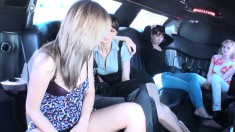 Nothing like a ride in a limo to get bitches to take their clothes off