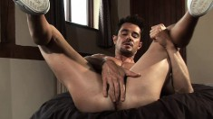 Dean Monroe gets bored and masturbates in front of the camera