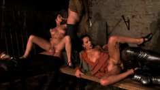 Horny Janet Joy has some anal fun in a blazing medieval orgy