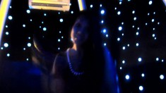 Slender Dark-haired Bombshell Has A Great Time In The Dark Room