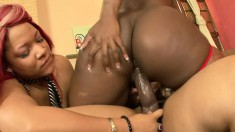 Three bodacious black hotties bring their lesbian fantasies to life