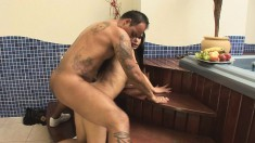 Striking shemale Barbara gets her fabulous ass pounded nice and deep