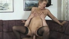 Insatiable milf bounces on a stiff prick until she's fully satisfied