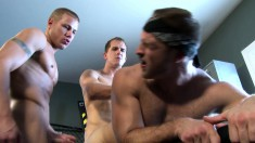 Three gorgeous and lustful boys find a place to satisfy their desires
