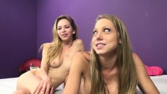 Shawna Lenee and Angel Smalls enjoying a hot threesome with a hung guy