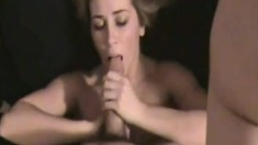 Great ass blonde blowjob and fucking POV