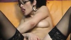 A Shameless MILF Playing With Her Boobs And Pussy