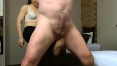 Asian Femdom Lulu busting my balls