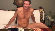 Trevor likes jerking his own wanker as munches on some man meat