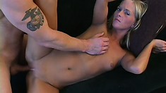 Petite blond amateur Jessica Day gets her tight little twat hammered