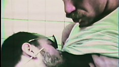 Classic gay movie with two dudes going hard at it in a public restroom
