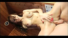 Two attractive young girls get their asses drilled hard by a hung stud