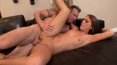 Haley Sweet has a sweet little ass and he sticks it in and stretches it