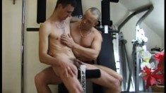 Captain Anal gets manhandled by Private Winger in a different kind of workout
