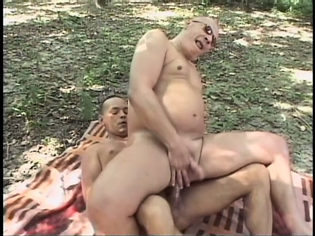 Yummy guy serving two bbcs