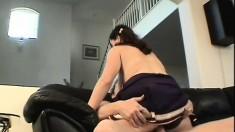 Big tit cheerleader Rachel Hobbs goes for a rollicking fuck to get a creampie