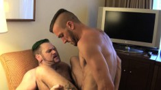 Gorgeous boys Tober and Dylan indulge in exciting bareback action