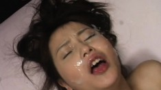 Horny Japanese cuties love hardcore sex and fresh semen on their faces