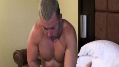 Dominik Rider and Travis Turner punish each other's asses on the bed