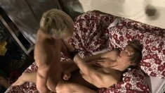 Sexy guys Ray and Jamie fulfill common desires and needs on the couch