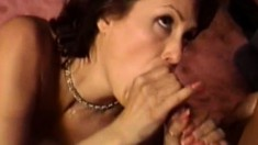 Insatiable housewife Candy Vegas has an exciting affair with two studs