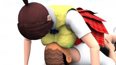3d Animation Of Doa's Kazumi Getting Down And Dirty With An Old Man