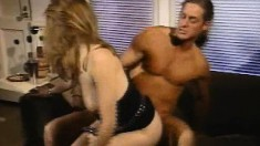 Slender Tiffany Mynx has sex with well-endowed stallion Marc Wallace