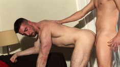 Naughty Theo Reid loves having doggystyle fun with Scott Hunter