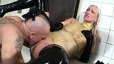 Horny Sabine and hung Adrien have some kinky fun in a foursome