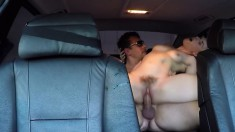 Eager young Nikki Snow can't resist this dude's unyielding fuck rod