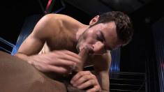 Gorgeous and lustful guy goes crazy for a tattooed stud's large dick