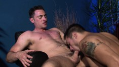 Lustful twinks gets facialized in interracial gangbang