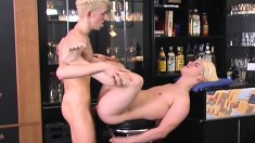 Hot Blonde Twinks Take Turns Deeply Drilling Each Other's Sweet Asses