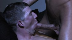 Horny jocks Lee Paine and Luke Milan have steamy oral and anal sex in a dark room