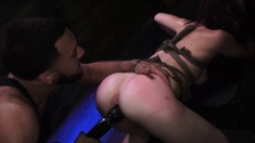 Slutty girl Kaisey Dean gets fucked hard with sex toys and a big cock