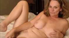 Horny mature amateur solo