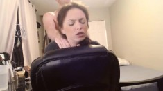 Hot redhead on tight jeans fucked doggystyle