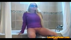 Mature Blonde Squirts In The Bathroom